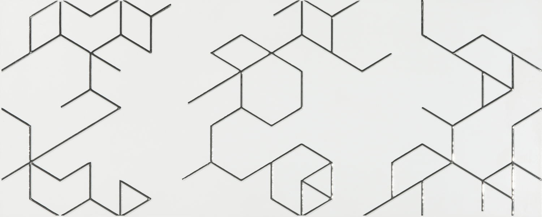 Decor Polygon Blanco 25x65 płytki dekoracyjne
