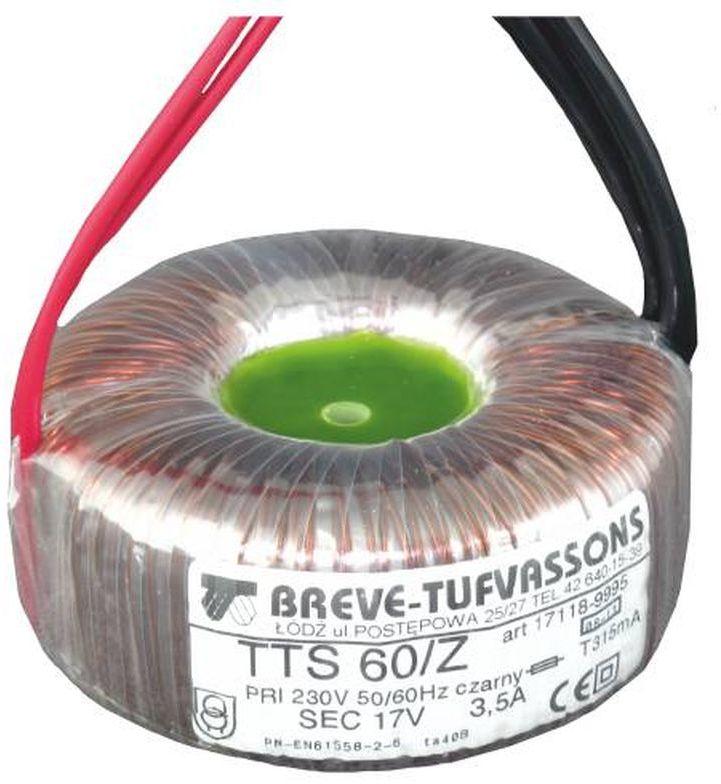 Transformator toroidalny TTS 60/Z 230/17V 60VA 17118-9995