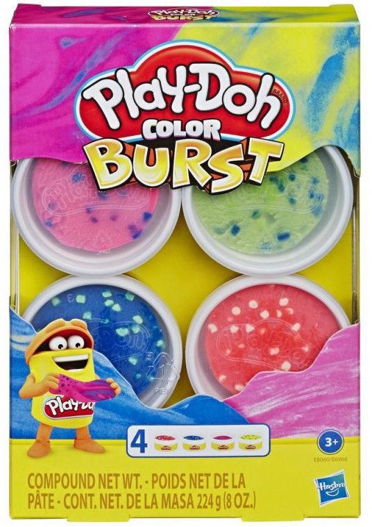 Masa plastyczna PlayDoh Color Burst Bright Pack