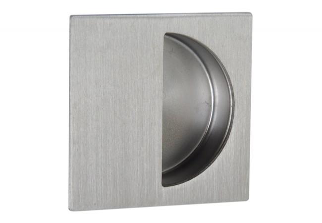 Uchwyt do drzwi przesuwnych wpuszczany kwadratowy kryty FH212 (50x50 mm), stal nierdzewna