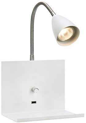 Kinkiet Logi 107140 Markslojd biała funkcjonalna oprawa na ścianę