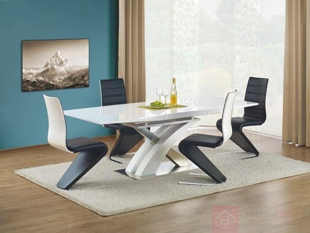 Stół SANDOR Halmar Biały, 90x160-220 cm