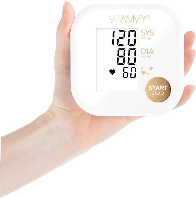 VITAMMY Ultra Beat White Golden Ciśnieniomierz naramienny 22-42 cm z podświetleniem i etui