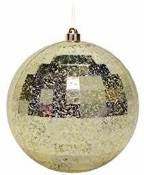 EUROCINSA Ref.27241 kula zawieszka fasetowana (zestaw) antyczne złoto 20 Øcm 2 sztuki, złoto, 20 cm