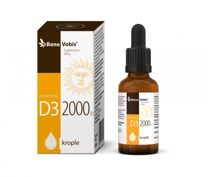 Bene Vobis - Witamina D3 2000IU w oleju MCT z kokosa - 30 ml