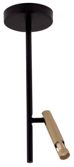 Lampa sufitowa żyrandol LEDA MINI 1 czarny/złoty 33243