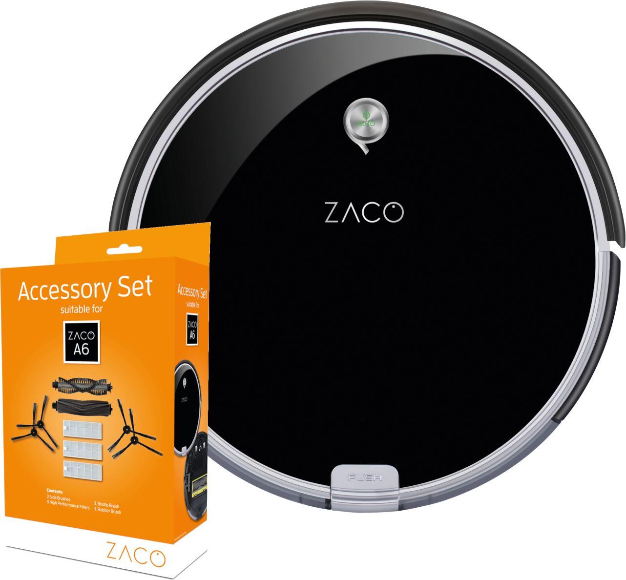 ZACO A6 Robot sprzątający z wirtualną ścianą + ZESTAW AKCESORIÓW