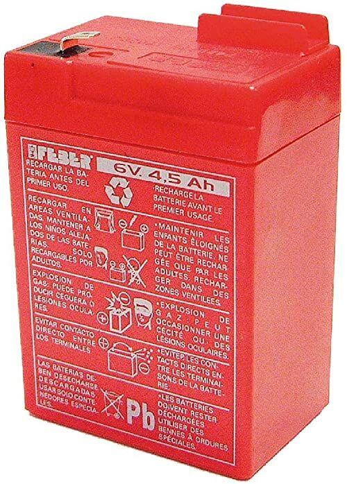 FEBER Famosa 800003104 akumulator zastępczy do pojazdów dziecięcych i zabawek elektrycznych FEBER, 6 V, 4 Ah