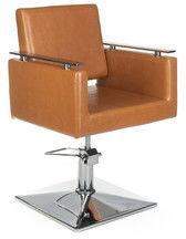 Fotel fryzjerski MILO BH-6333 jasno brązowy