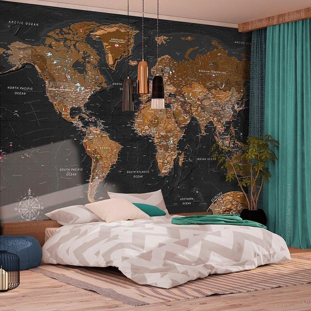 Fototapeta - świat: stylowa mapa