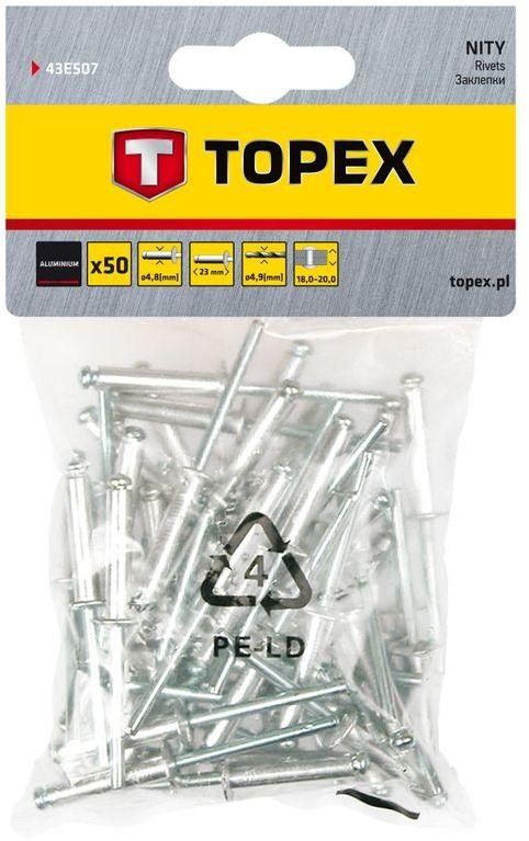 Nity aluminiowe 4,8x18 mm 43E505 /50 szt./
