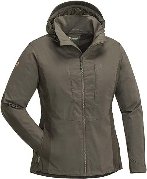 Pinewood Tiveden Tc kurtka damska zielony Ciemnooliwkowy/brązowy zamszowy M