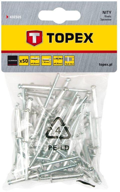 Nity aluminiowe 4,8x14,5mm 43E504 /50 szt./