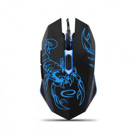 EGM203B Mysz przewodowa dla graczy 6D optyczna USB MX203 Scorpio niebieska