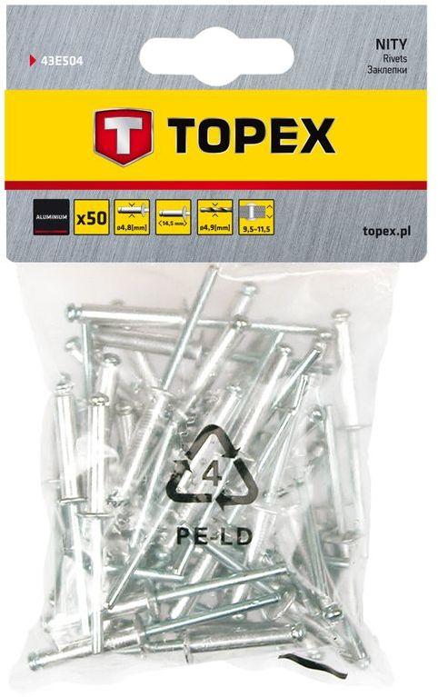 Nity aluminiowe 4x8mm 43E401 /50 szt./