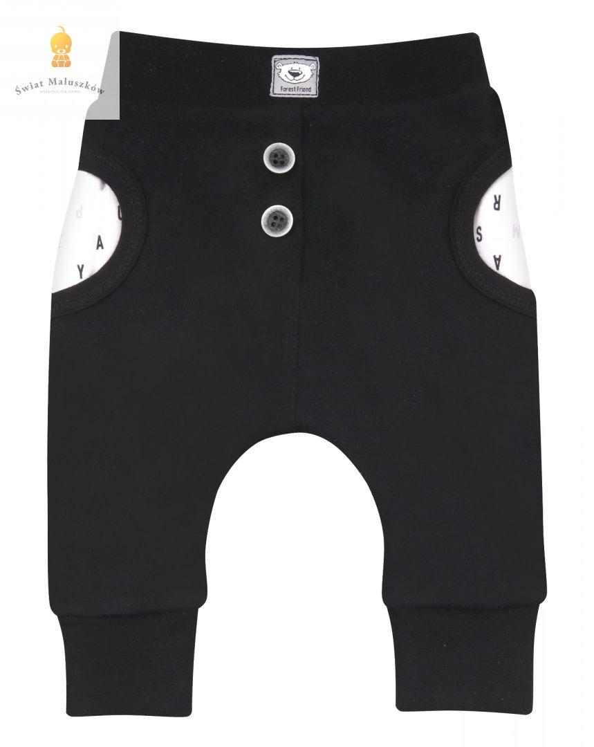 Spodnie chłopięce lekko ocieplane Ni-Ni r.62-86