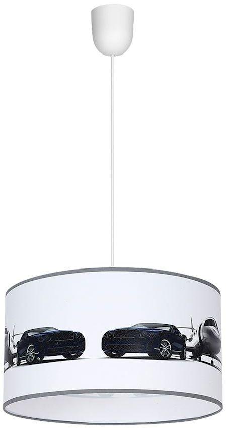 Milagro JET MLP4326 lampa wisząca dziecięca klosz kształt walca pojazdy 1xE27 30cm