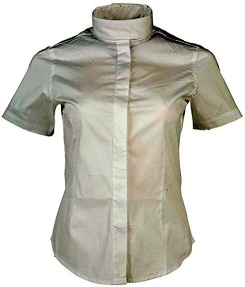 HKM damska bluzka do jazdy konnej, elastyczna, rękaw 1/4, biała, 140
