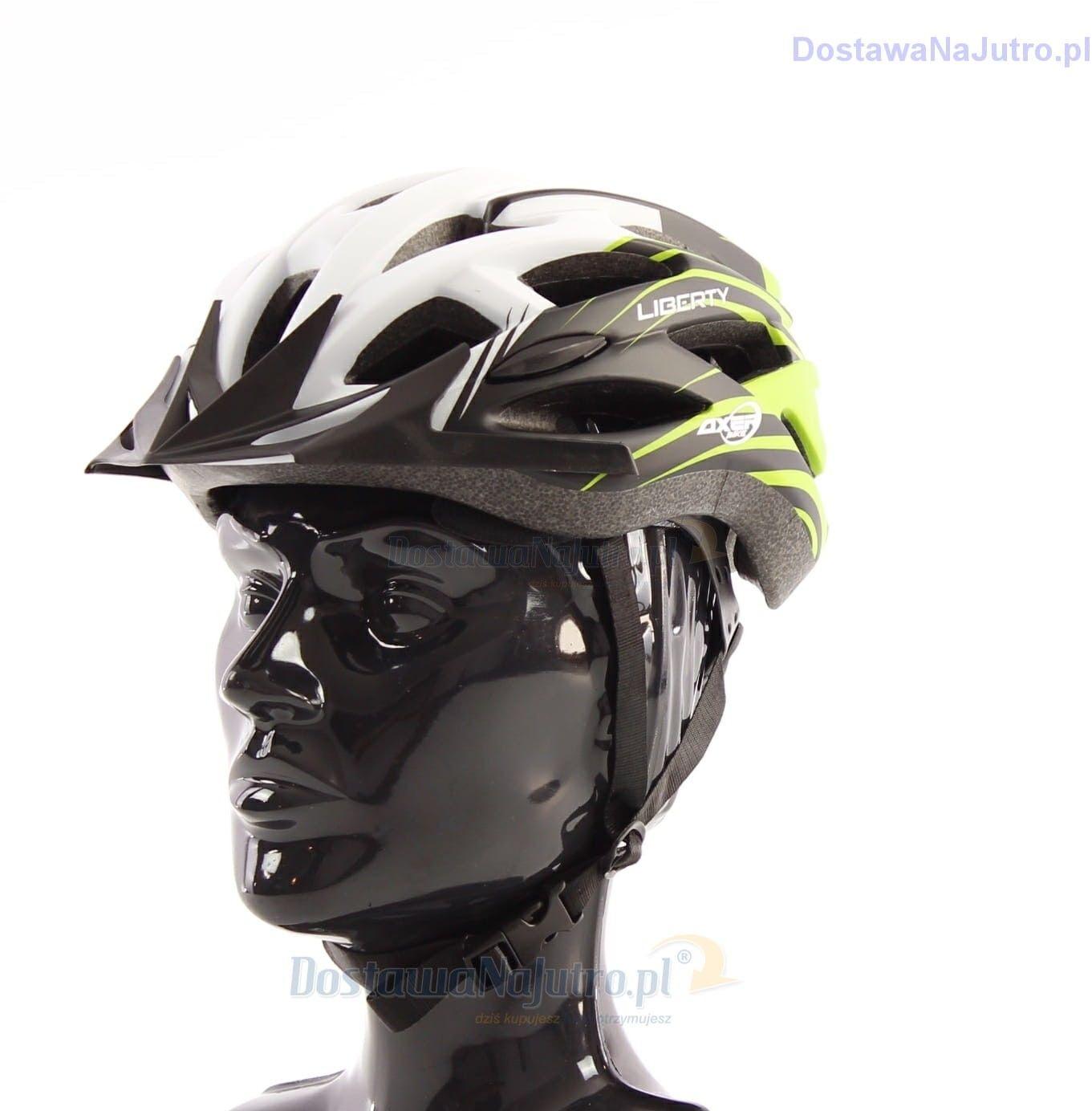 Kask rowerowy AXER LIBERTY GREEN/WHITE z daszkiem