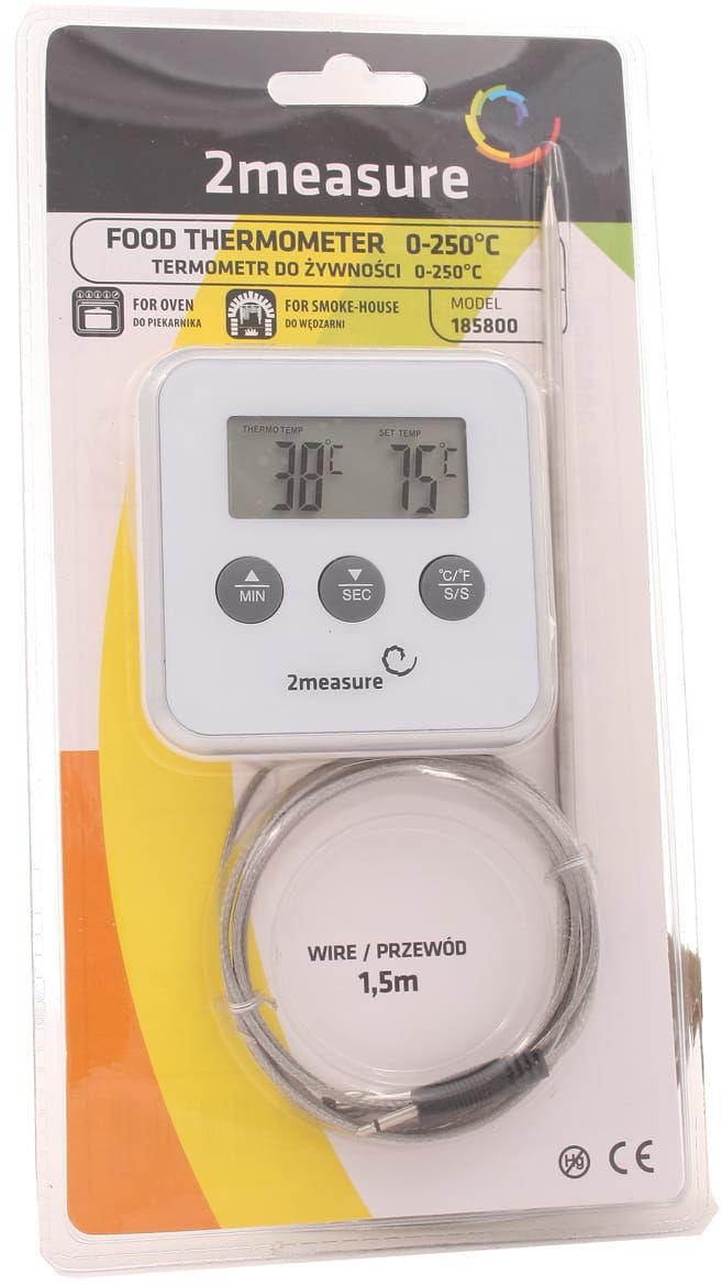 Termometr do żywności z sondą 0-250 stopni 1,5 m - 2measure