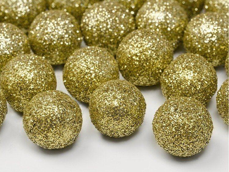 Kule brokatowe złote 2cm 25szt dk2-019