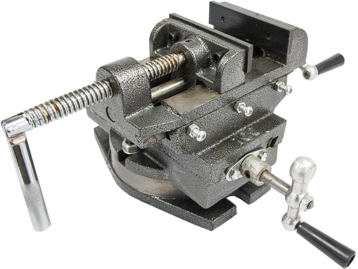 Imadło maszynowe krzyżowe dwuosiowe obrotowe 100mm GEKO