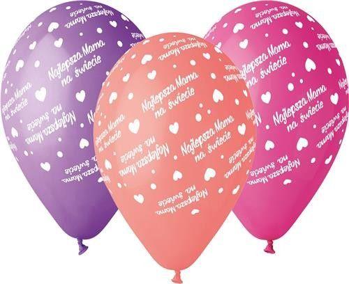 "Balony Premium 12"" ""Najlepsza Mama"""