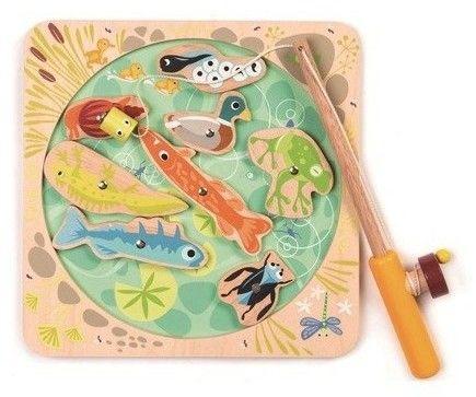 Tender Leaf Toys - Drewniana gra zręcznościowa- Łowienie w stawie
