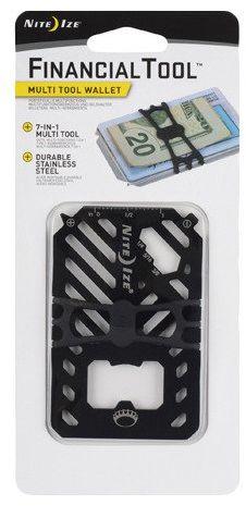 Karta/portfel Financial Tool Multi Tool Wallet Nite Ize - czarny