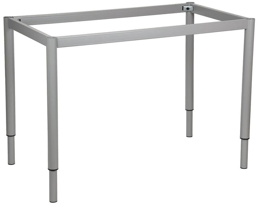 Stelaż ramowy regulowany na wysokość, 156x66 cm - noga okrągła. Do stołu lub biurka.