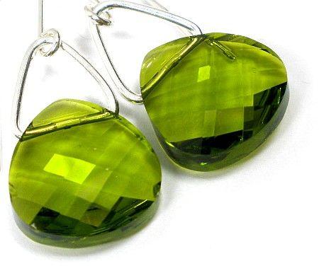 Kryształy piękne kolczyki Briolette 15 Srebro