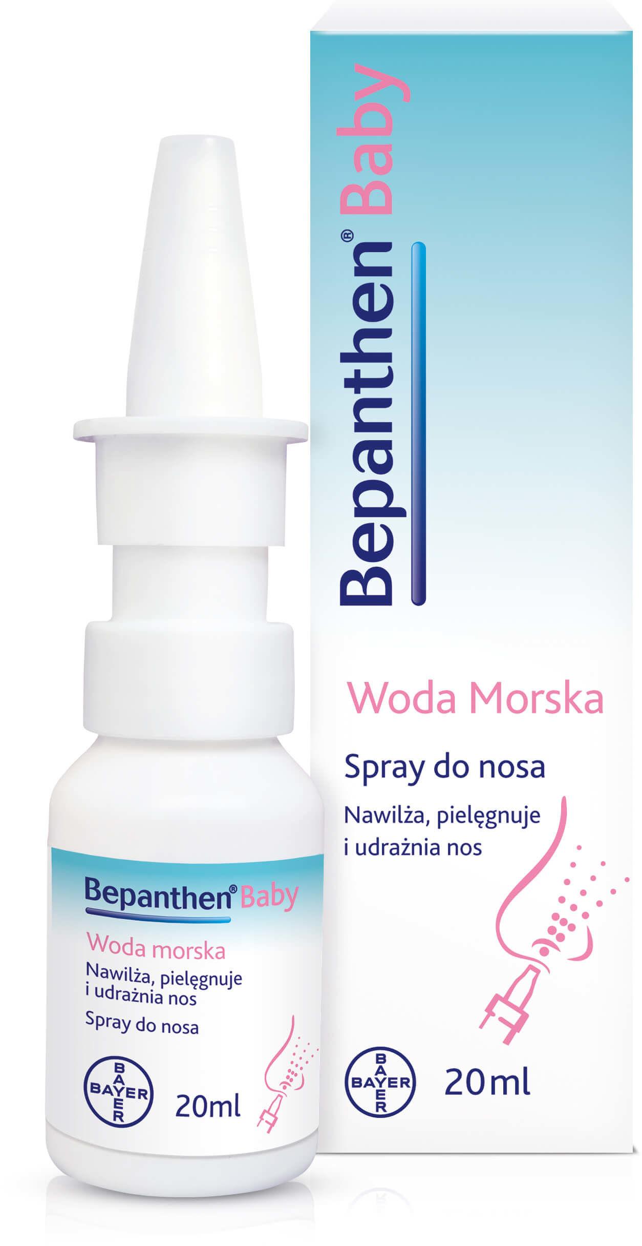 Bepanthen Baby woda morska spray do nosa z d-panthenolem 20 ml