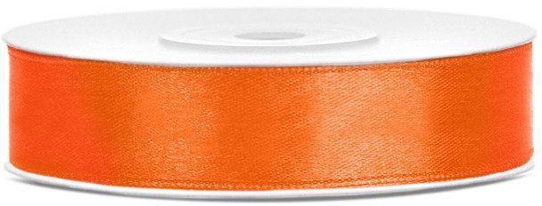 Tasiemka satynowa 12mm pomarańczowa 25m 1szt. TS12-005