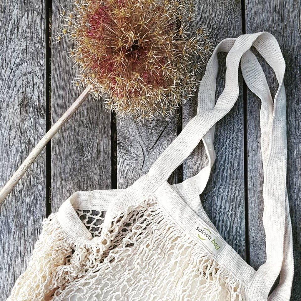 Torba Zakupowa Z Organicznej Bawełny Z kieszonką ZERO WASTE