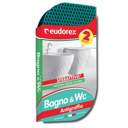 Eudorex Bagno WC - Gąbka do czyszczenia Łazienki (2 szt.)
