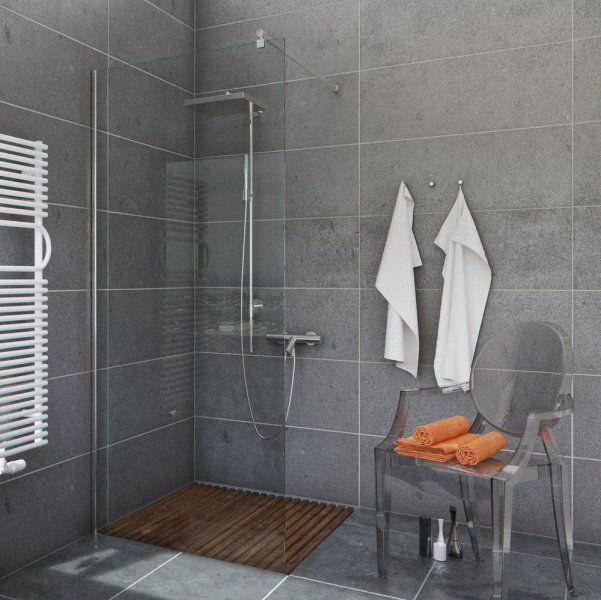 Ścianka prysznicowa narożna Easy In 80 szkło transparentne