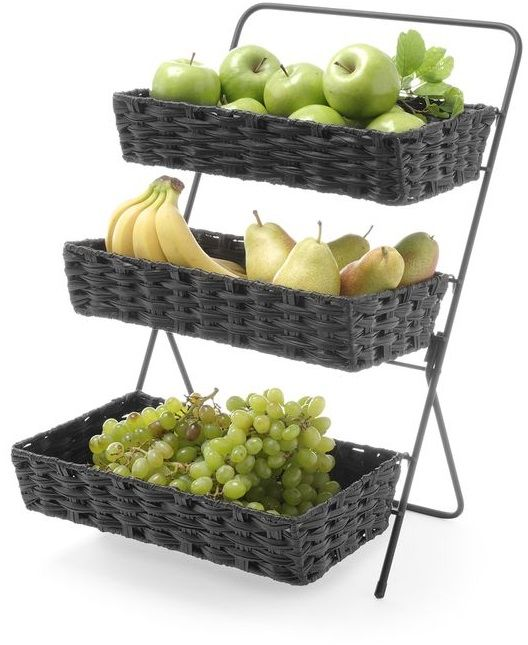 Stojak na owoce z 3 koszami