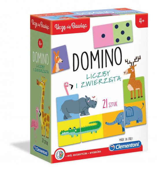 Uczę się Bawiąc Domino Liczby i zwierzęta ZAKŁADKA DO KSIĄŻEK GRATIS DO KAŻDEGO ZAMÓWIENIA