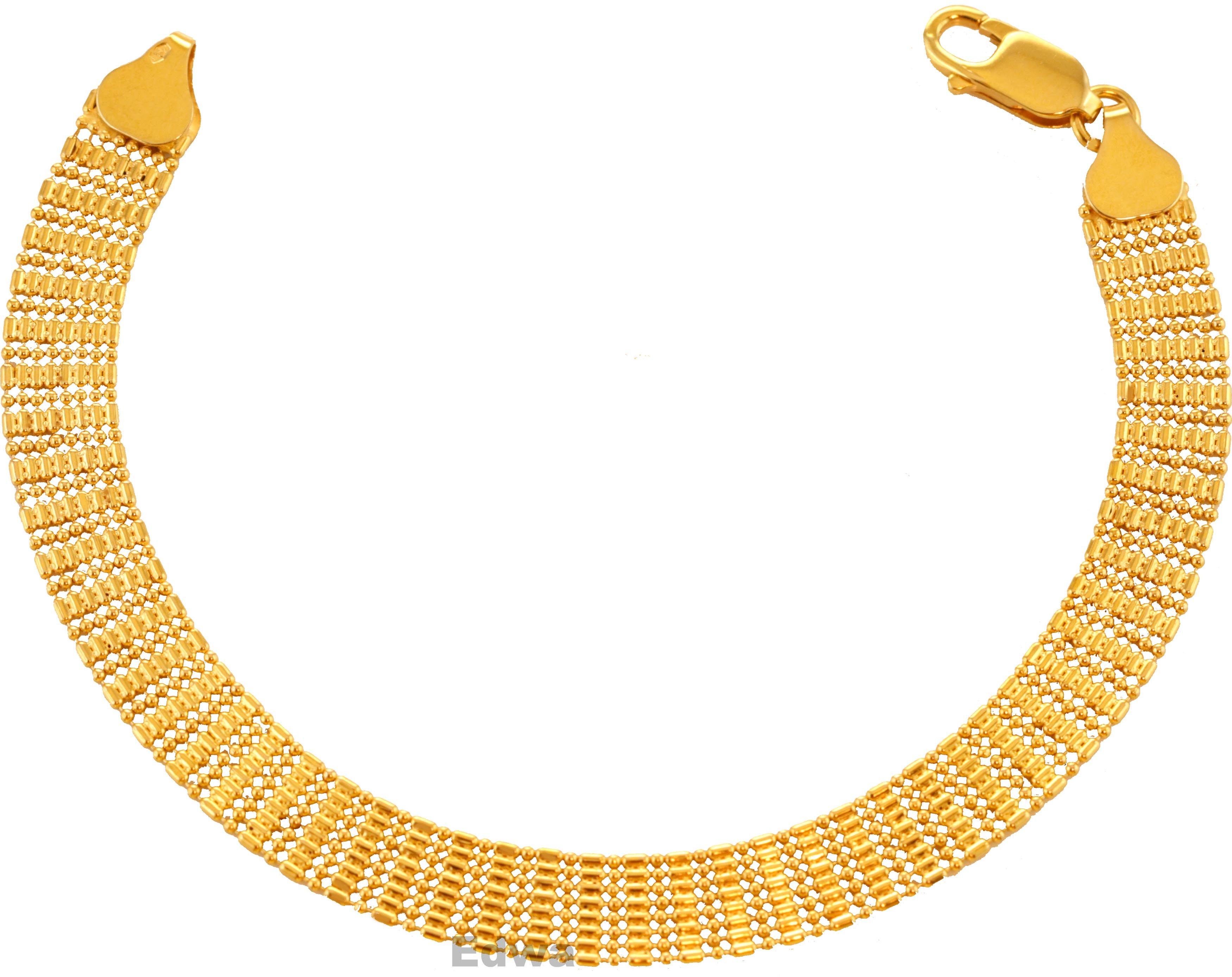 Bransoletka złota, taśma- siatka pr.585 19 cm