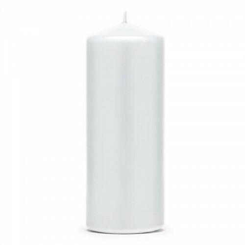 Świece klubowe, grube białe 15 x 6 cm, (6 szt.)