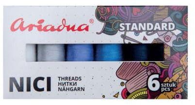 Zestaw nici Talia 120/200mb 6 kolorów WINTER Ariadna