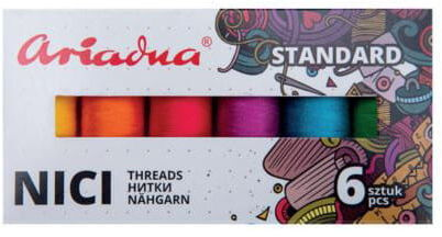 Zestaw nici Talia 120/200mb 6 kolorów SUMMER Ariadna