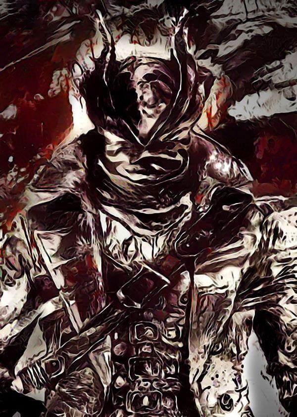 Legends of bedlam - the hunter, bloodborne - plakat wymiar do wyboru: 70x100 cm