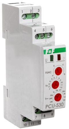 Przekaźnik czasowy uniwersalny 3P 8A 0,1s-576h 100-264V AC/DC wielofunkcyjny PCU-530