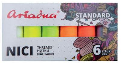 Zestaw nici Talia 120/200mb 6 kolorów FLASH Ariadna