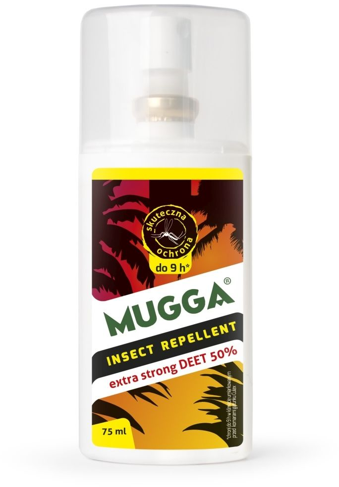 Repelent na owady Mugga Extra Strong spray 50% DEET 75 ml