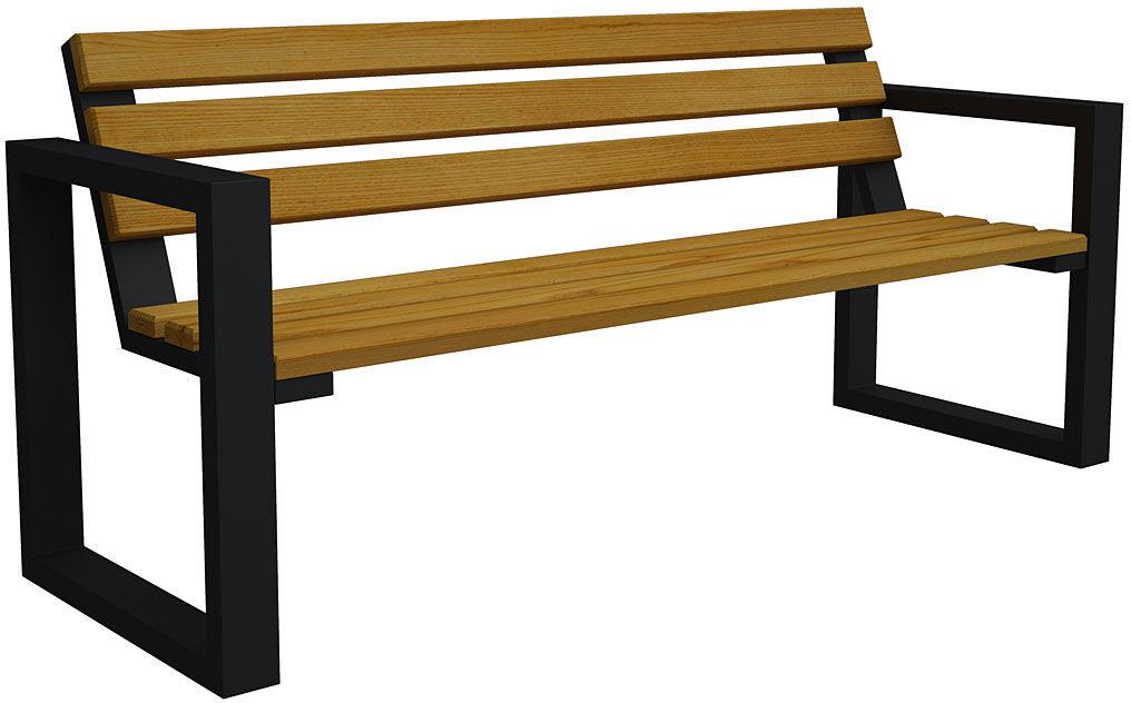Ławka ogrodowa Norin Black 150cm - 8 kolorów