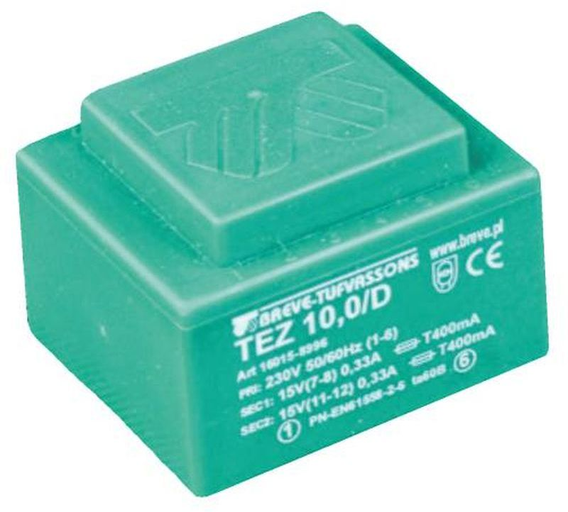 Transformator 1-fazowy TEZ 10,0/D 230/24V /do druku/ 16024-9960