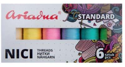 Zestaw nici Talia 120/200mb 6 kolorów WIOSNA Ariadna