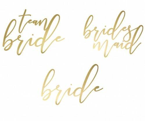 Tatuaże zmywalne na Wieczór Panieński Bride, złote